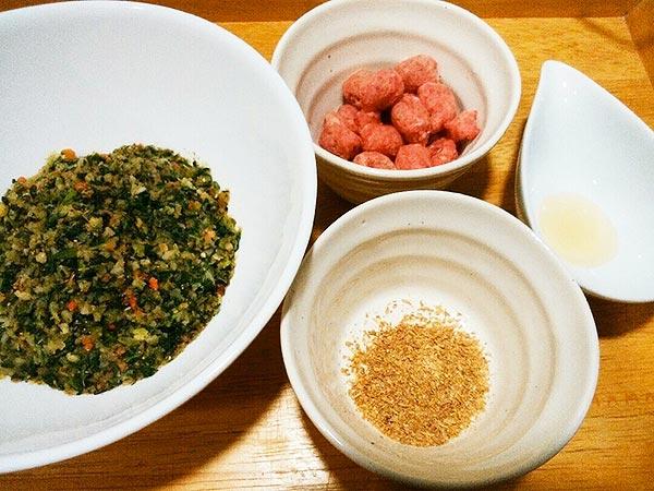 健康一番 × 馬肉 × ケイズマイスター(アレルギー対応レシピ)の作り方1