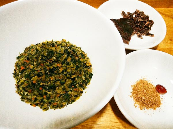 健康一番 × 鹿ハツ × エゴマ(アレルギー対応レシピ)の作り方1