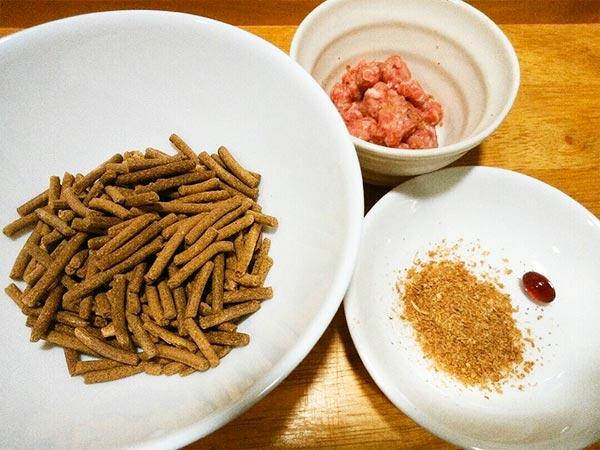 長寿一番 × 馬肉 × エゴマ(アレルギー対応レシピ)の作り方1