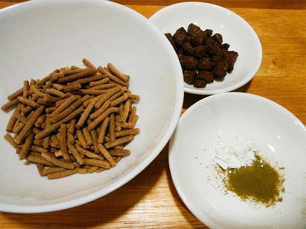 長寿一番 × 鹿ビッツ × 葛(アレルギー対応レシピ)の作り方1