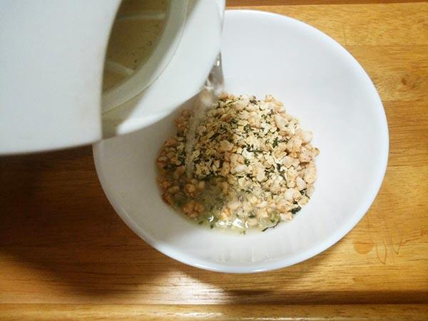 ラム御膳を使った簡単健康レシピの作り方1