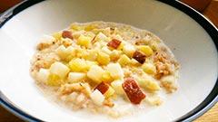 犬猫のさつま芋を使ったレシピ「サツマイモとリンゴのリゾット」