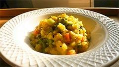 犬猫の乾燥野菜を使ったレシピ「かぼちゃミルクリゾット」