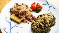 犬猫の手作りご飯の素、健康一番のレシピ「豆腐ステーキ 〜健康一番添え〜」