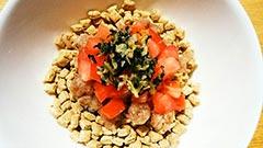 犬猫のカツオを使ったレシピ「カツオとトマトのさっぱりごはん」