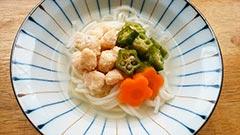 犬猫の鯛を使ったレシピ「たいパラ冷や麦」