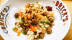 犬猫のエミュー肉を使ったレシピ「がっつりヘルシー肉×肉ご飯」