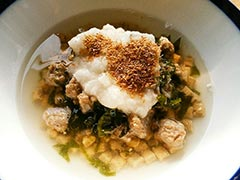 犬猫のドライフード、ハッピーラブを使ったレシピ「とろろのっけスープごはん」