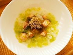 犬猫の心臓病におすすめレシピ「鮭と白菜のおじや」