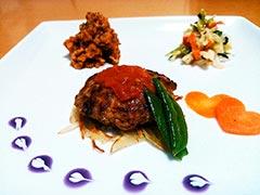 犬猫の牛肉を使ったレシピ「バレンタインディナープレート」