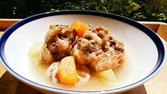 犬猫の栄養のめぐみを使ったレシピ「鹿テールの根菜煮込み」