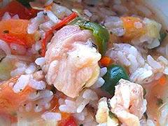 犬猫の栄養のめぐみを使ったレシピ「鶏軟骨のトマトリゾット」