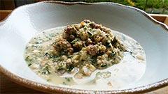 犬猫の粉豆乳を使ったレシピ「牛肉と養生野菜の豆乳スープ」