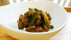 犬猫の牛肉を使ったレシピ「牛肉と野菜のスタミナ丼」