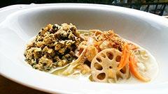 犬猫の乾燥野菜を使ったレシピ「グリーンカレー風ごはん」
