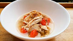 犬猫のドライフード、ハッピーラブを使ったレシピ「手羽先とトマトのスープかけごはん」