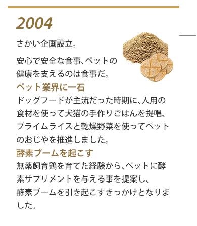 2004年 さかい企画設立