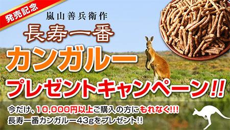 長寿一番カンガルー発売記念プレゼントキャンペーン